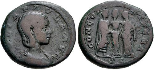 julia paula roman coin as